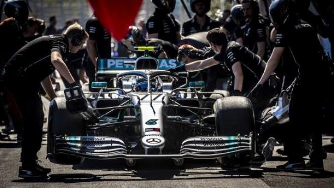 Valtteri Bottas durante el GP de Azerbaiyán.