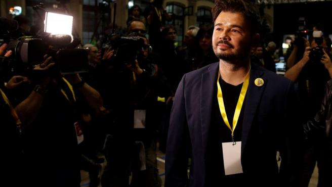 Gabriel Rufián, al conocerse los primeros resultados de la elecciones del 28-A.