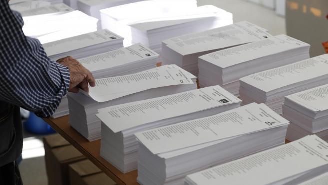 Papeletas en las Elecciones Generales de 2019.