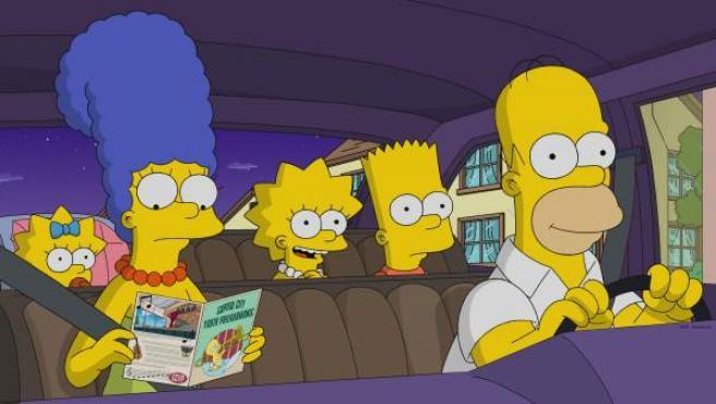 La familia Simpson en un capítulo de la temporada 30.