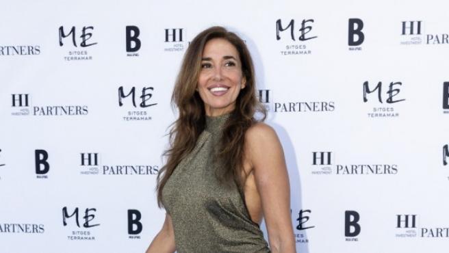 La presentadora Elsa Anka durante el evento de apertura del Hotel ME Sitges Terramar el 21 de junio de 2018 en Sitges, Barcelona.