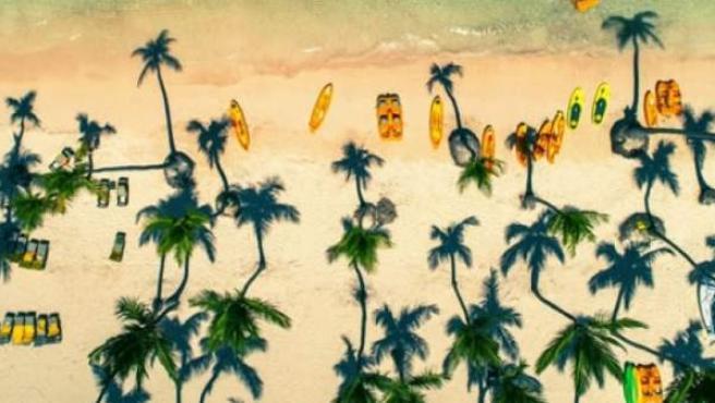 Se trata de las playas de Punta Cana en la República Dominicana.