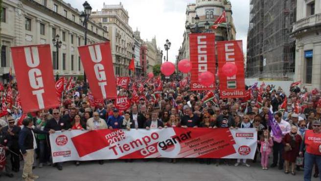 Sevilla.-CCOO llama a 'volcarse' con la manifestación del 1 de Mayo en demanda de un 'acuerdo' gubernamental progresista