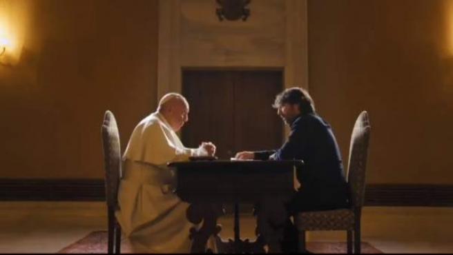 El papa Francisco y Jordi Évole, en 'Salvados'.