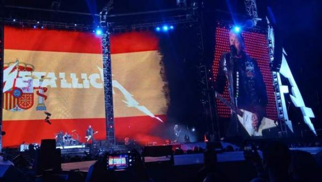 El escenario de Metallica en Madrid, durante el concierto del 3 de mayo de 2019.