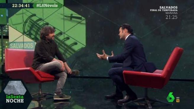 Jordi Évole, entrevistado en el programa 'laSexta Noche'.