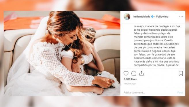 Elena Tablada critica duramente a David Bisbal en su Instagram.