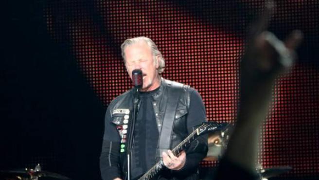 James Hetfield, de Metallica, en Barcelona.