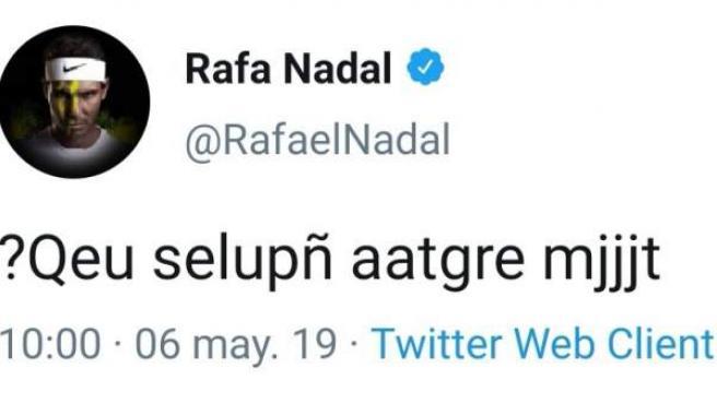 El extraño tuit de Rafa Nadal