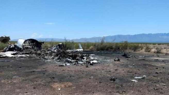 Restos de un avión privado que desapareció en el estado mexicano de Coahuila procedente de la ciudad estadounidense de Las Vegas, y que fue localizado en la sierra de Monclova (México).