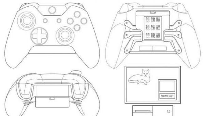 Diseño del mando de Xbox One pensado para ciegos.