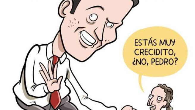 'Sánchez reunido con Iglesias', viñeta de Álvaro Terán.