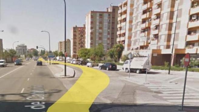 Avenida Cataluña, en Zaragoza.