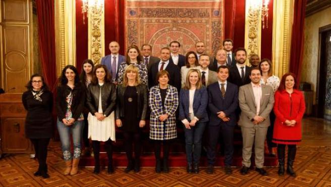 Barkos conmemora el Día de Europa con las empresas participantes en el programa navarro 'Europa+Cerca'