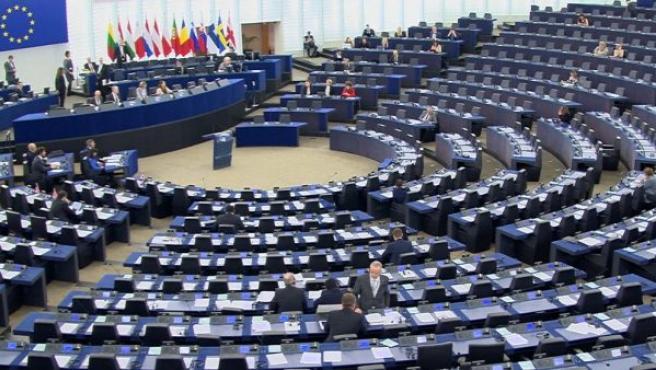 Fotografía del interior del Parlamento Europeo.