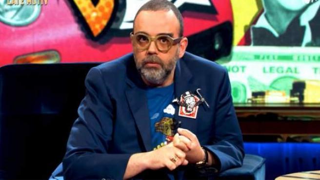 <p>Bob Pop durante su intervención en el programa de 'Late Movit'.</p>