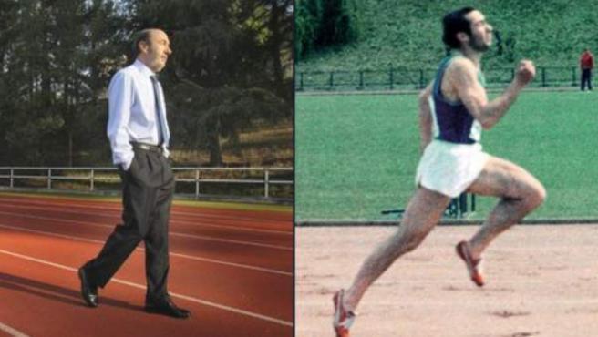 Alfredo Pérez Rubalcaba fue un gran atleta en su juventud. Competía en los 100 metros lisos.