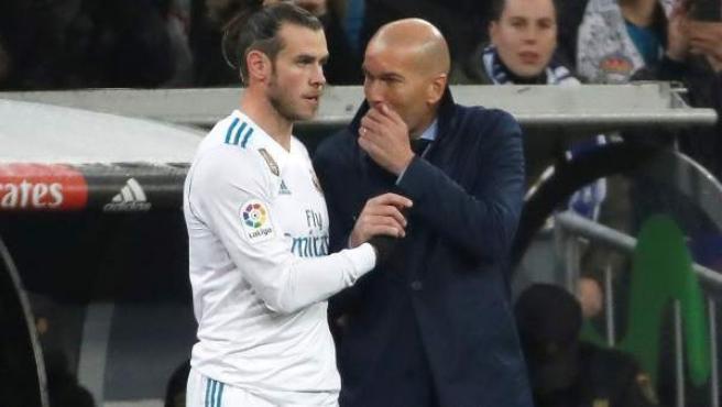 Gareth Bale y Zinedine Zidane.