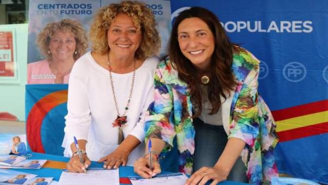 Huelva.- 26M.- Pilar Marín y Loles López firman un 'contrato con los onubenses' para 'reiniciar Huelva'