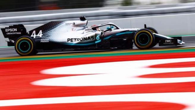 Lewis Hamilton, durante el GP de España de Fórmula 1.