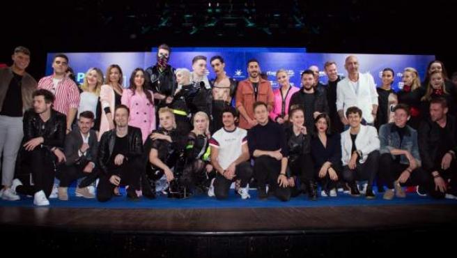 Concursantes de Eurovisión 2019.