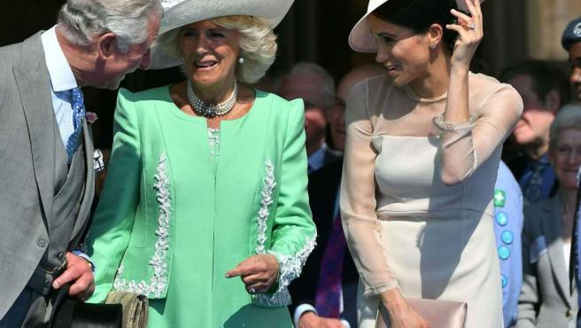 La mujer del príncipe Carlos es dos centímetros más bajita que Kate Middleton, cuya altura se ha quedado en los 1,73 metros.