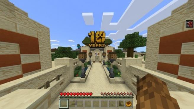 'Minecraft' cumple 10 años y lo celebra con un mapa gigante.