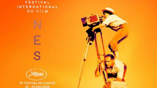 Detalle del póster oficial de Cannes 2019 homenajeando a la directora Agnès Varda.