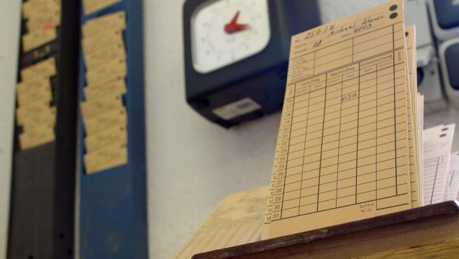 Reloj para registro de la jornada laboral.