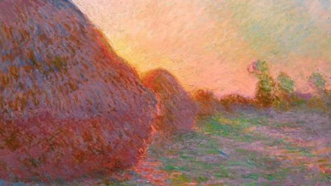 Claude Monet, 'Meules' (detalle), 1890.
