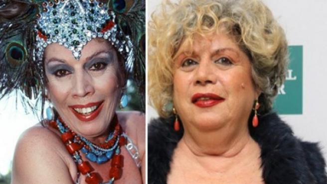 La cantante María Jiménez, en 2002 y en 2016. (GTRES)