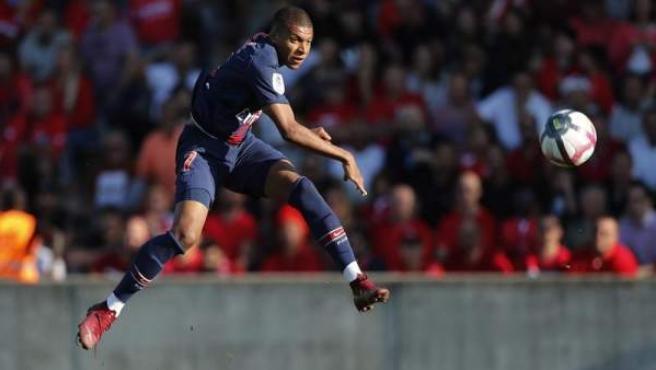 Kylian Mbappé, en un partido con el PSG.