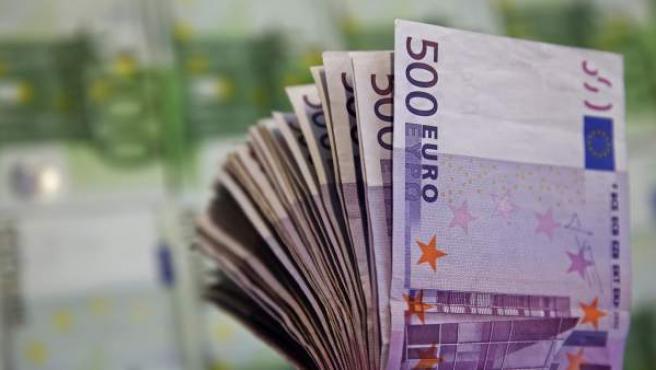 Imagen de varios billetes de 500 euros.
