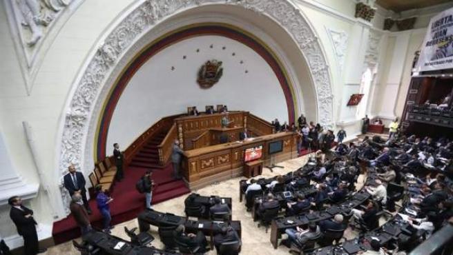 La Asamblea Nacional (Parlamento) de Venezuela, en Caracas.