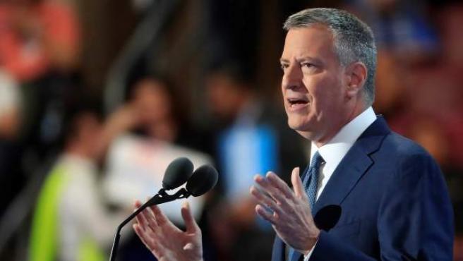 Foto de archivo del alcalde de Nueva York, Bill de Blasio.
