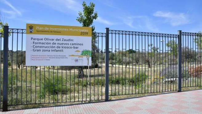 Sevilla.- Tomares licita una zona de juegos infantiles de unos 3.000 metros cuadrados en el Parque Olivar del Zaudín