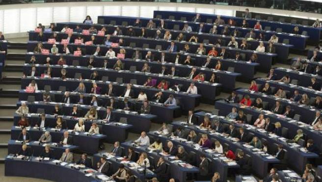 Pleno del Parlamento Europeo en Estrasburgo.