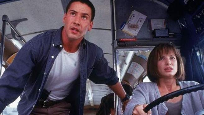 Fotograma de la película de acción de 1994 'Speed'.