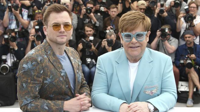 Taron Egerton y Elton.