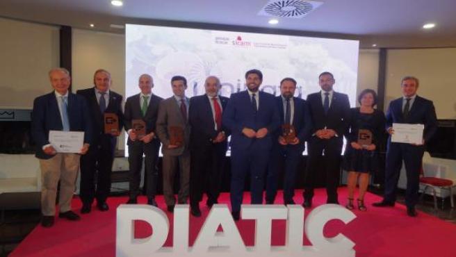 El jefe de Sistemas Informáticos del Puerto de Cartagena y los directivos de Odilo y Metaenlace, premios DIATIC 2019