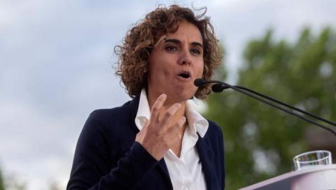 Dolors Montserrat, en un acto de campaña para el 26-M.