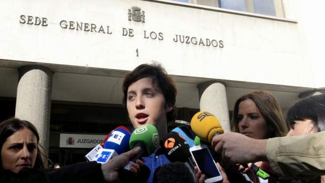 El 'pequeño Nicolás' en los juzgados de Plaza de Castilla.