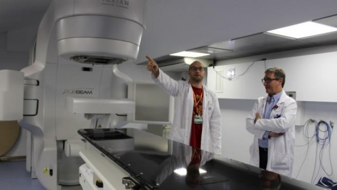 Acelerador de radioterapia pagado por Amancio Ortega en l Hospital Arnau de Vilanova de Lleida.
