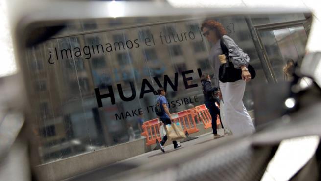 Un establecimiento de Huawei.