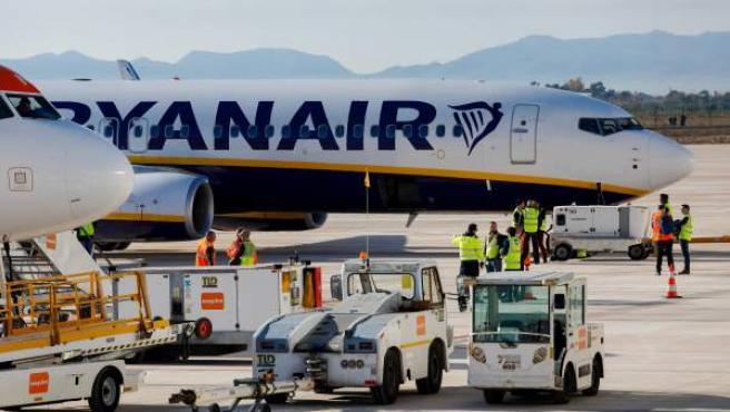 Un avión de Ryanair, en una imagen de archivo.