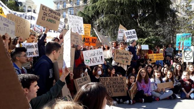 Manifestación de 'Fridays for Future' en abril de 2019.