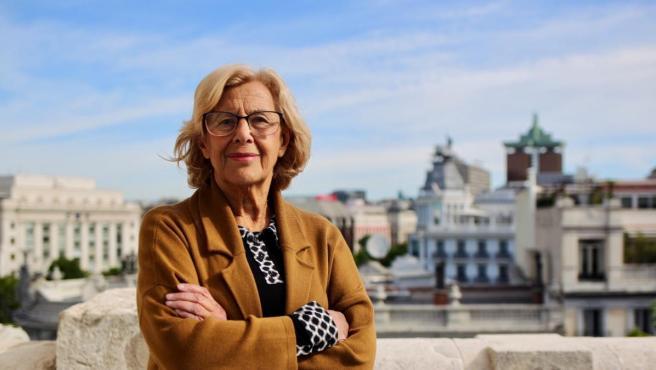 La alcaldesa de Madrid, Manuela Carmena, en el Palacio de Cibeles.