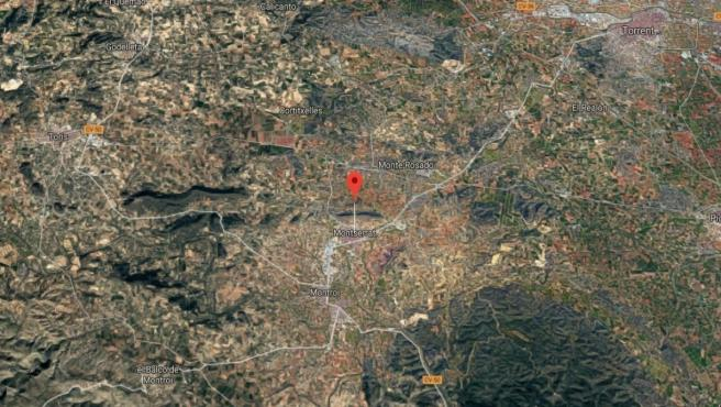 Valencia.- Sucesos.- Una conductora de camión resulta herida tras salirse de la vía en Montserrat