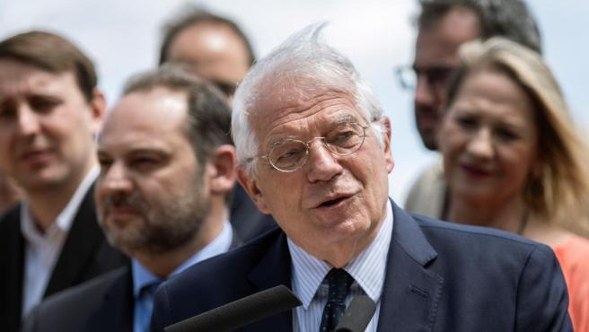 Josep Borrell, en un mitin.