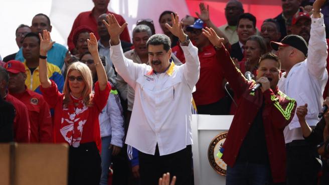 El presidente de Venezuela, Nicolás Maduro, en un acto en Caracas.